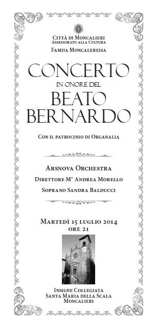Concerto Beato Bernardo 2014