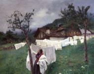 Alessandro Poma - Donna che ritira il bucato